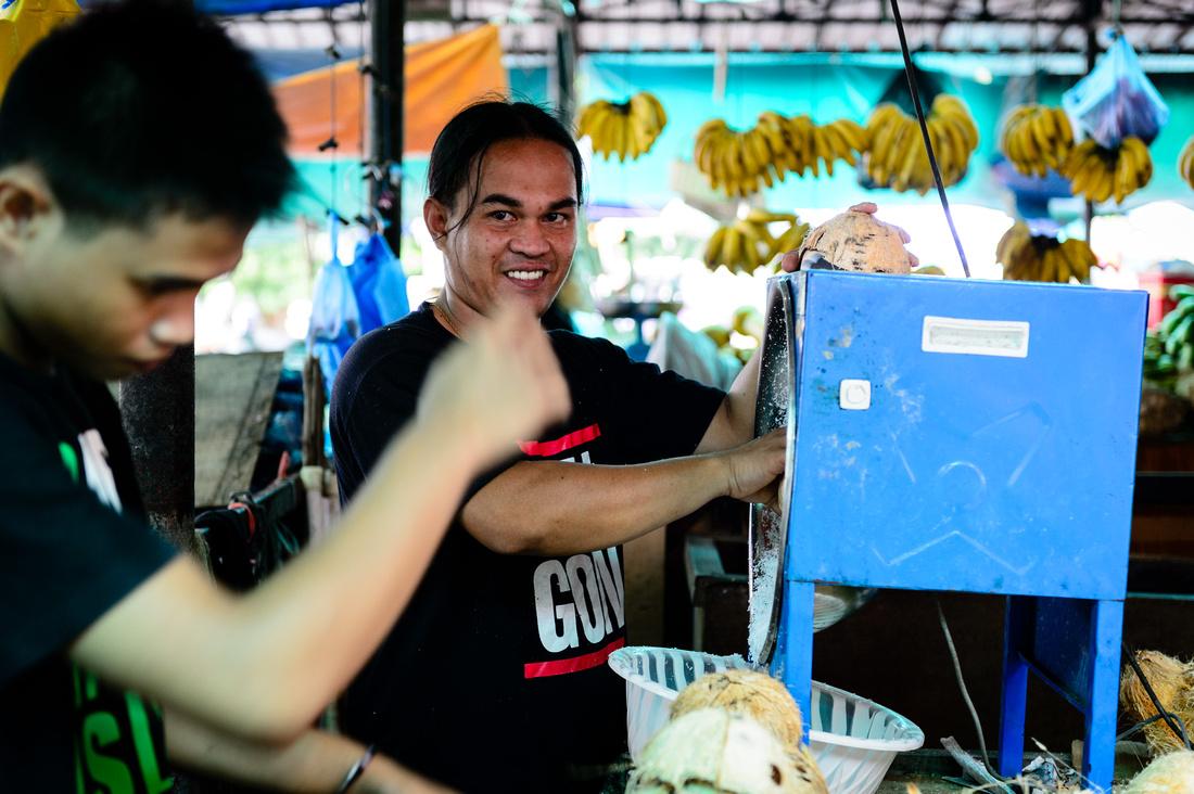 street scenes of a market in Brunei