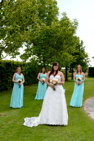 Bride and bridesmaids at the batch country house