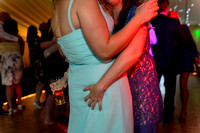 A guest dancing grabs a bridesmaids bum at the Batch Country house somerset