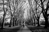 black and white picture of St George park in Bristol